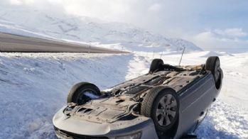 Başkale'de trafik kazası, 1 yaralı