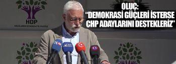 HDP Sözcüsü Oluç: Demokrasi Güçleri İsterse CHP Adaylarını Destekleriz