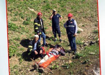 Yüksekova'da Dağdan düşen vatandaş kurtarıldı