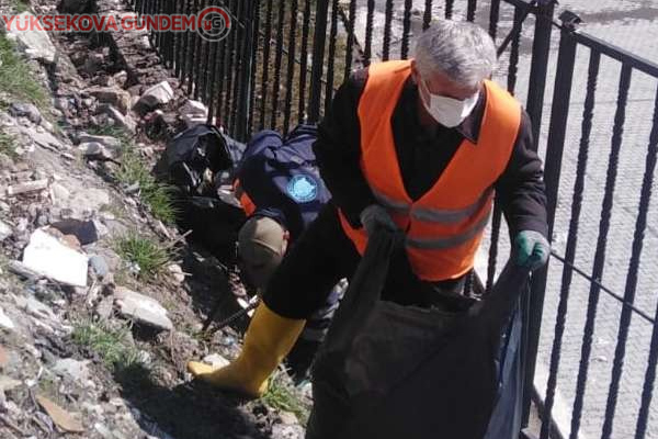 Hakkari Belediyesinden temizlik çalışması