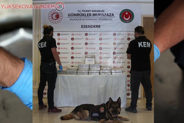 Yüksekova'da 35 milyon 250 bin lira değerinde eroin ele geçirildi