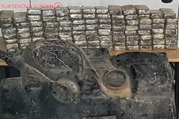 Yüksekova'da 49 kilo 936 gram eroin ele geçirildi