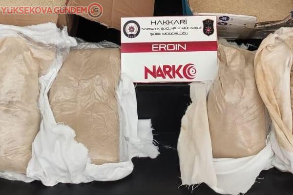 Yüksekova'da 32 kilo eroin ele geçirildi