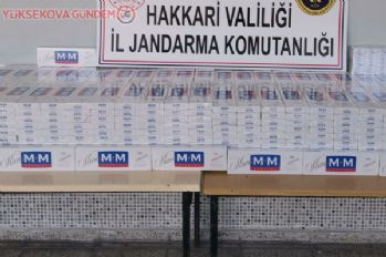 Yüksekova'da 5 bin paket kaçak sigara ele geçirildi