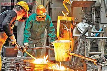 Sanayide kapasite kullanımı yüzde 75'e geriledi