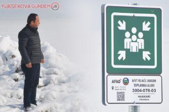 Yüksekova'da afet ve acil durum toplanma alanları belirlendi
