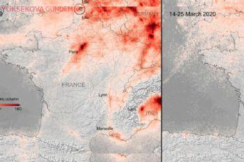 Korona salgının artmasıyla, hava kirliliğinin de azaldığı görüldü