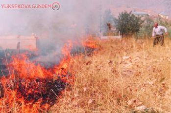 Şemdinli'de korkutan yangın