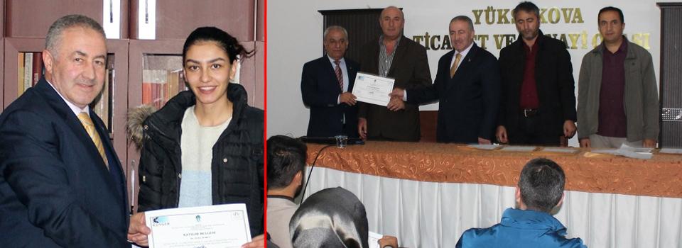 Yüksekova'da 213 girişimciye KOSGEB sertifikaları törenle verildi