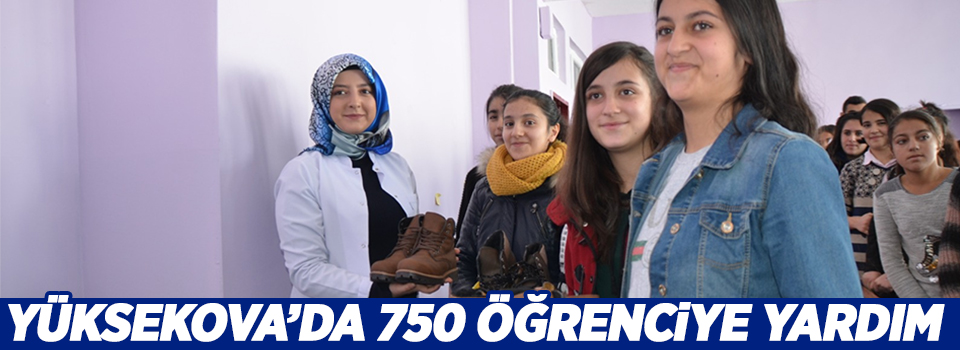 Yüksekova'da 750 öğrenciye yardım