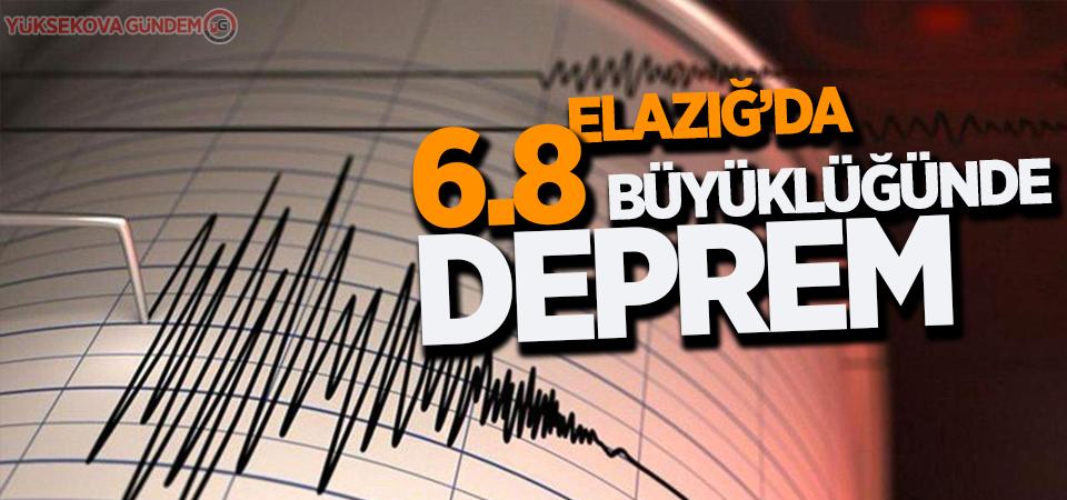 6.8 büyüklüğünde deprem meydana geldi!