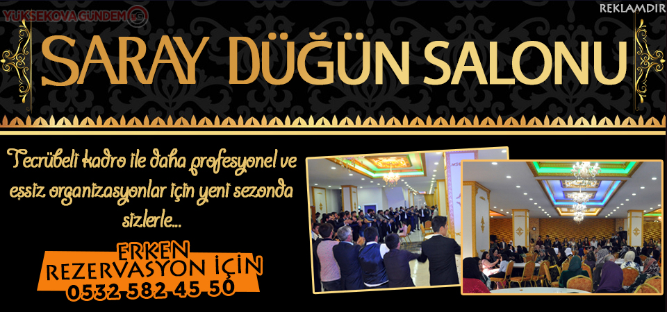 Yüksekova Saray düğün salonu