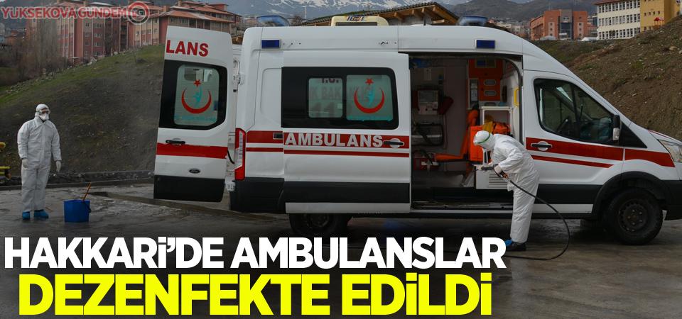 Hakkari'de ambulanslar dezenfekte edildi