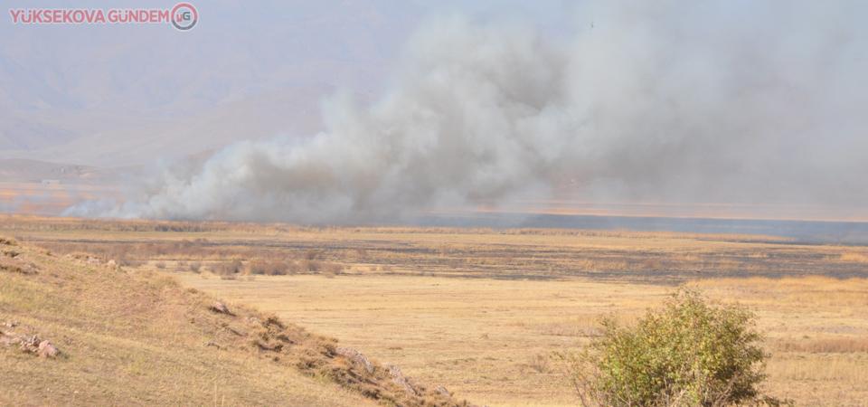 Nehil Sazlığındaki yangın devam ediyor